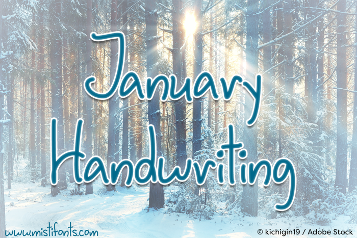 January Handwriting Font
