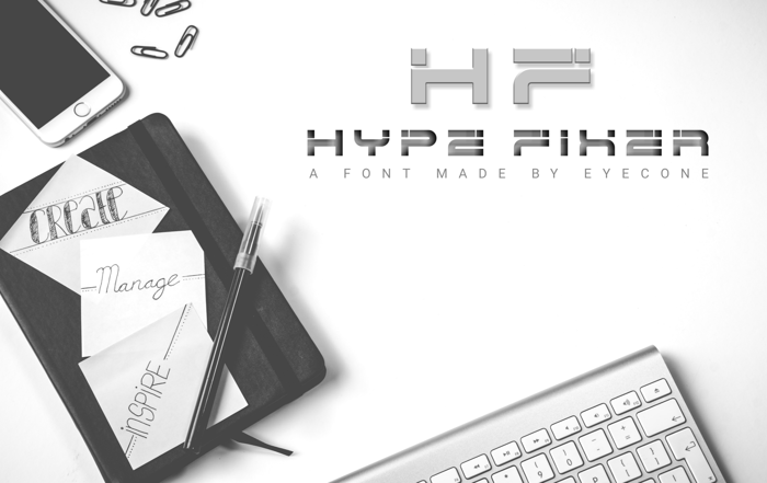 Hype Fixer Font poster