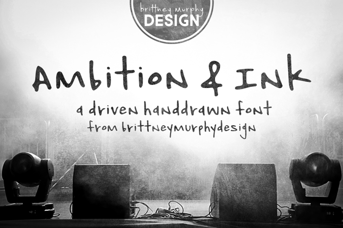 Ambition & Ink Font poster