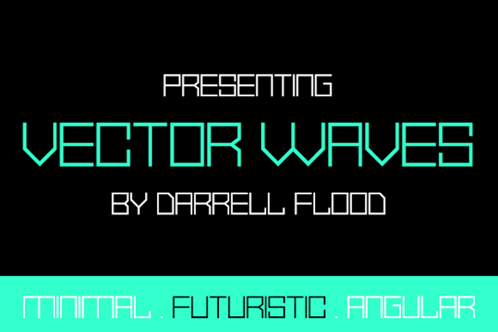 Vector Waves Font poster