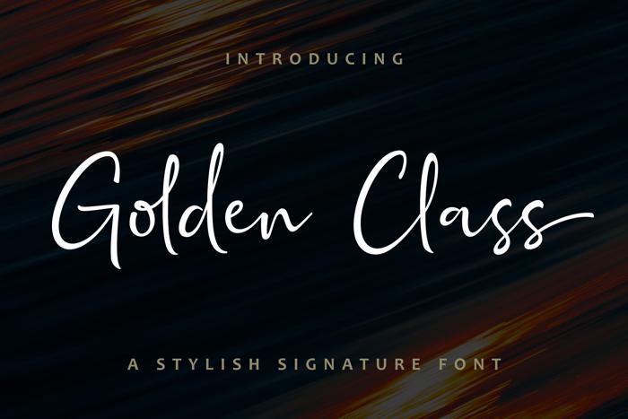 Golden Class Script Font poster