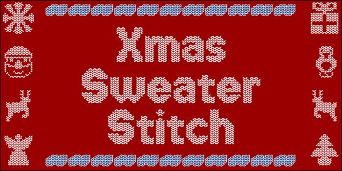 Xmas Sweater Stitch Font poster