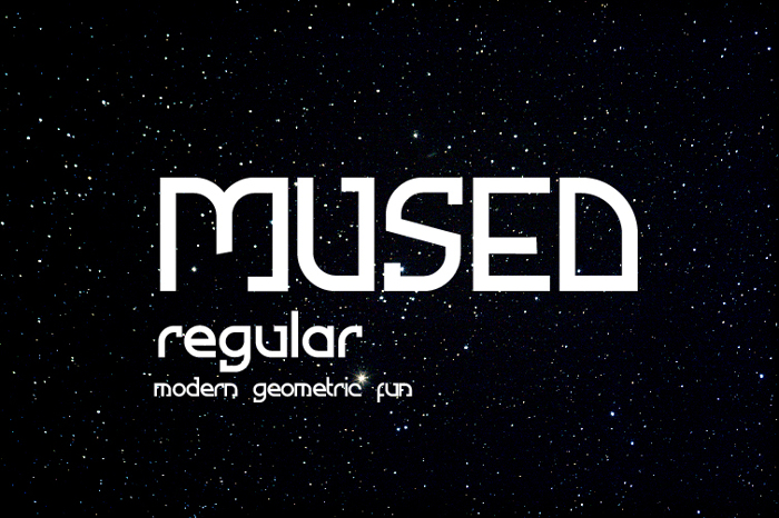 Mused Font poster