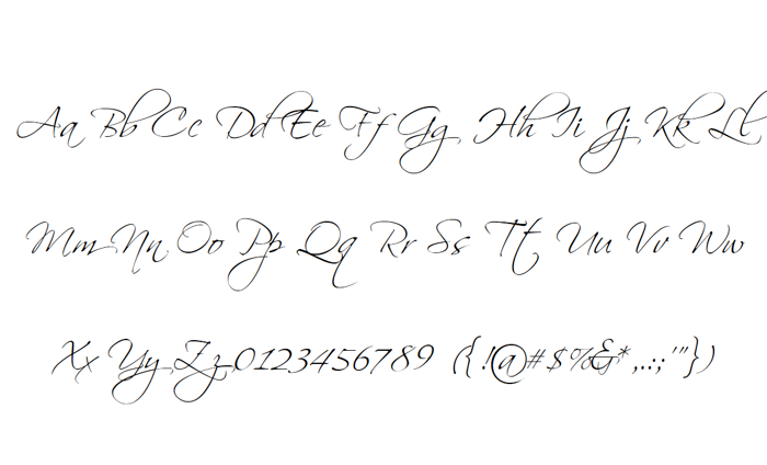 Scriptina Font poster