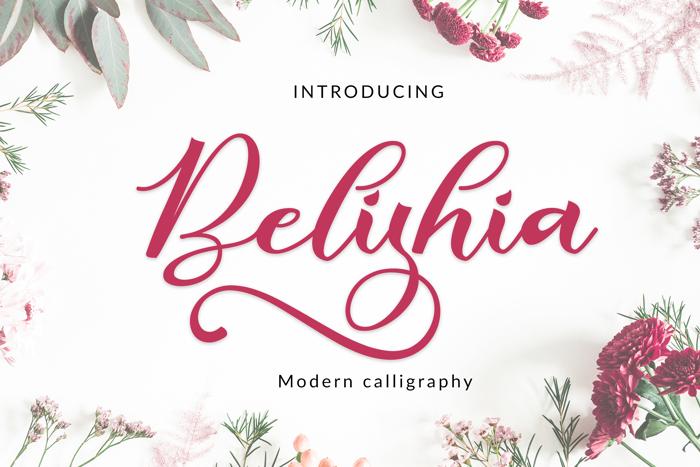 Belishia Font poster