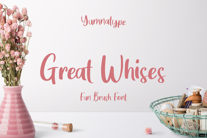 Great Wishes Font poster