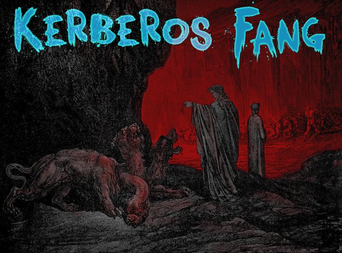 Kerberos Fang Font poster