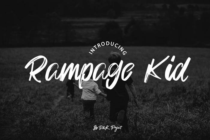 Rampage Kid Font poster