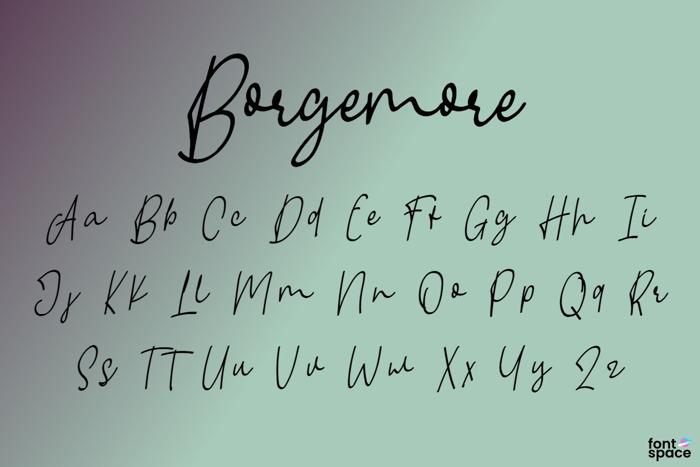 Borgemore Font poster
