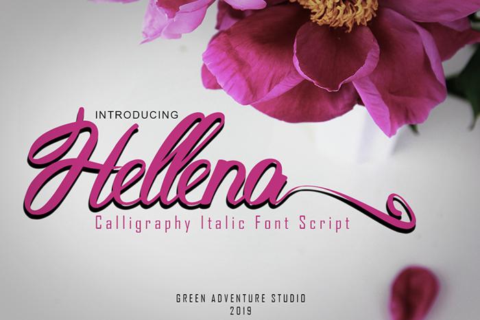 Hellena Font poster