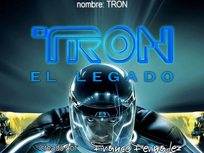 TRON Font poster