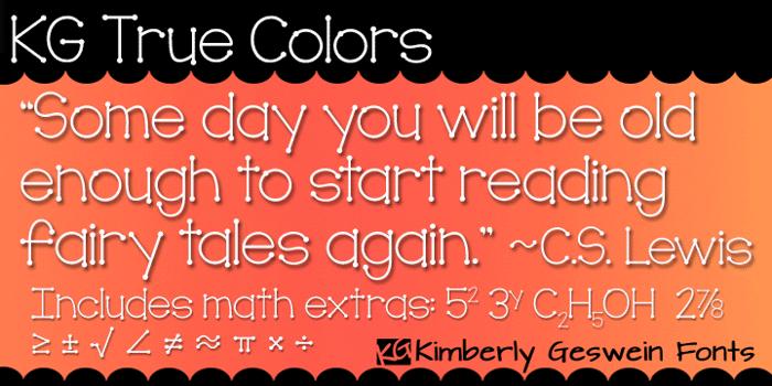 KG True Colors Font poster