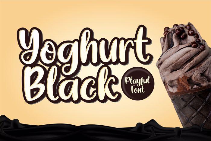 Yoghurt Black Font poster