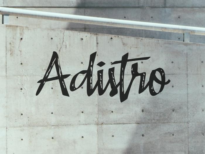a Adistro Font poster