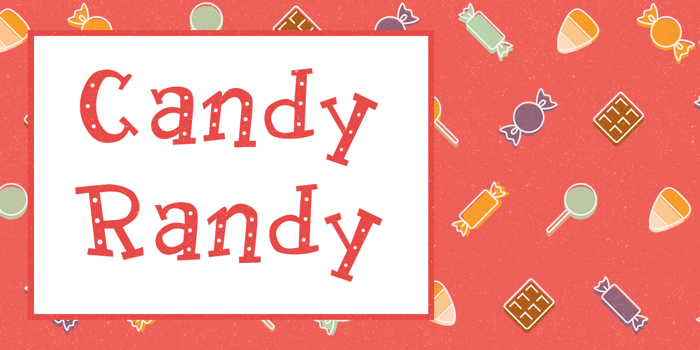 Candy Randy Font poster