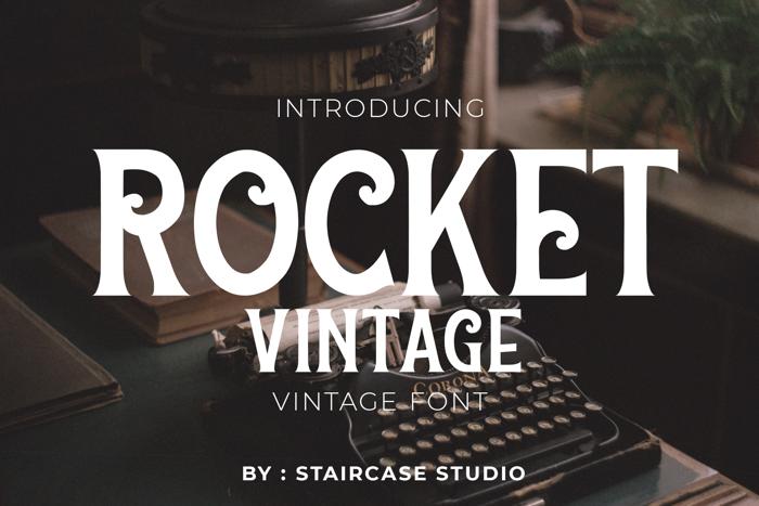 Rocket - Vintage Font poster