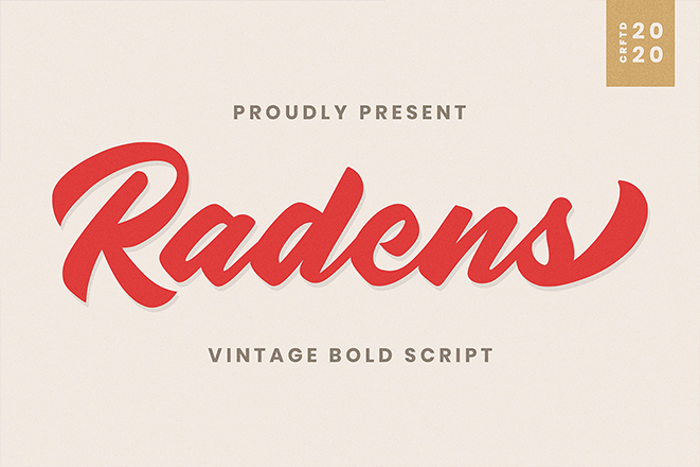 Radens Font poster
