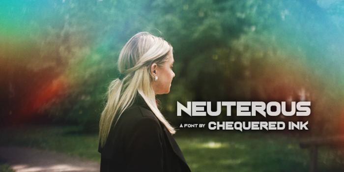 Neuterous Font poster