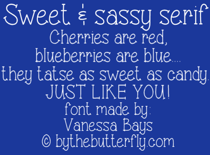 Sweet & sassy serif Font