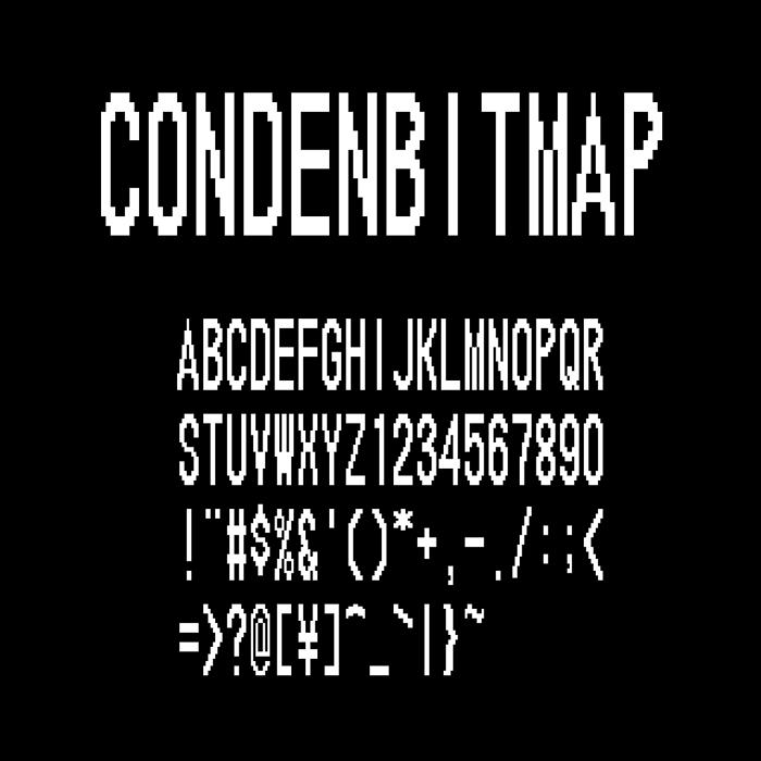 CondenBitmap Font poster