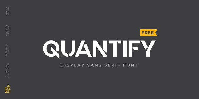 Quantify Font poster