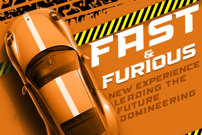 High Speed Font poster