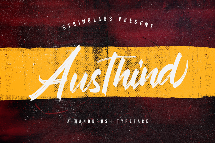 Austhind Font poster