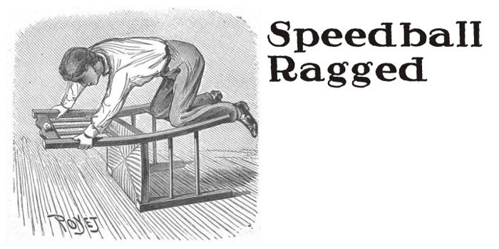 Speedball Ragged Font poster