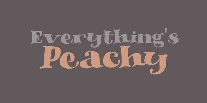 DK Phantom Peach Font poster