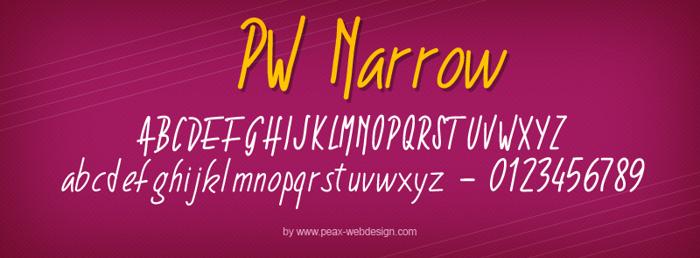 PWNarrow Font poster