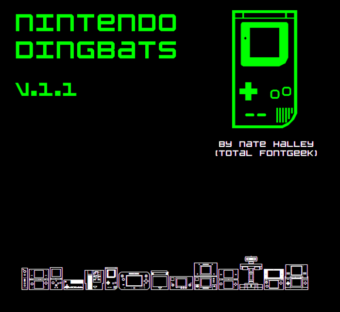 Nintendo Dingbats NBP Font poster