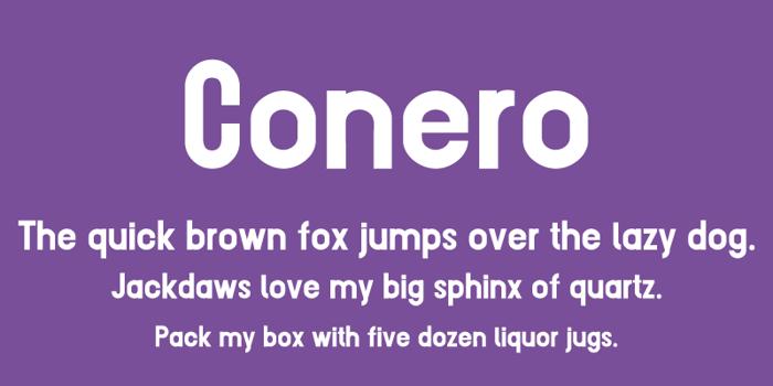 Conero Font poster