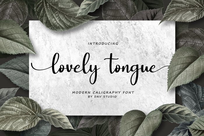 lovely tongue Font poster