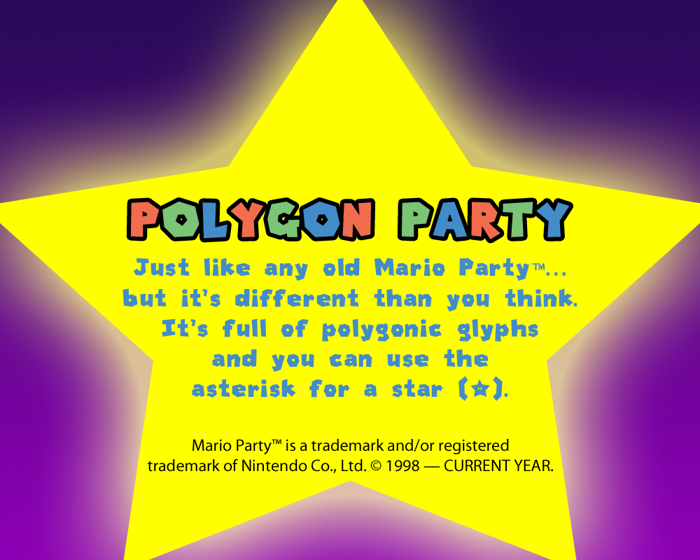 Polygon Party Font poster