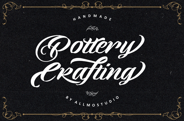Pottery Crafting Font poster