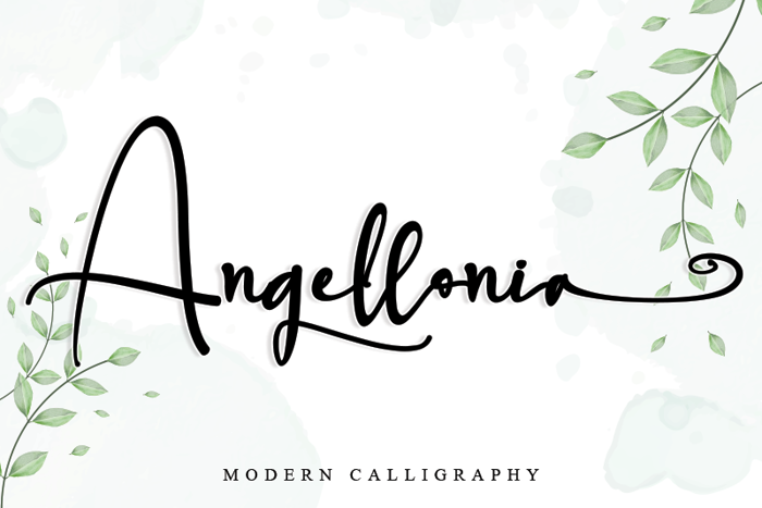 Angellonia Font poster