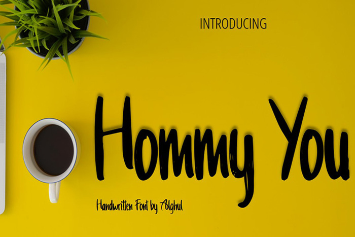 Hommy You Font poster