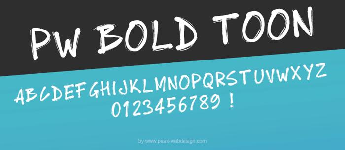 PWBoldToon Font poster