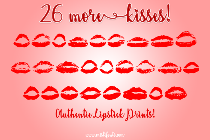26 More Kisses Font poster