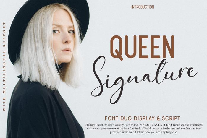 Queen Signature Font poster