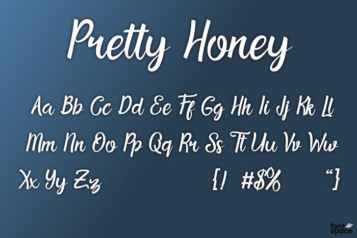Pretty Honey Font poster
