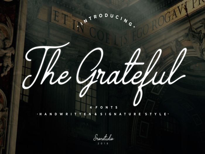 The Grateful 4 Font poster