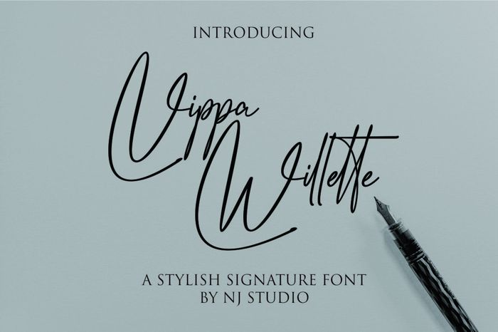 Vippa Willette Font poster