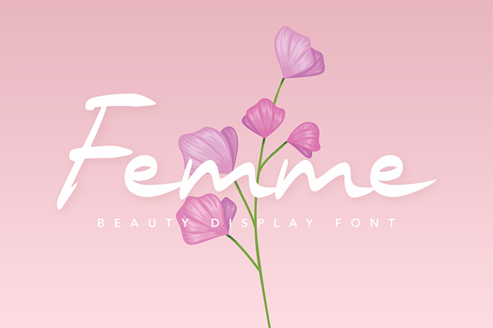 Femme Font poster