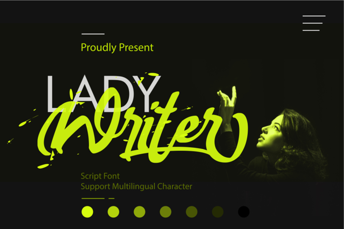 Lady Writer Font poster