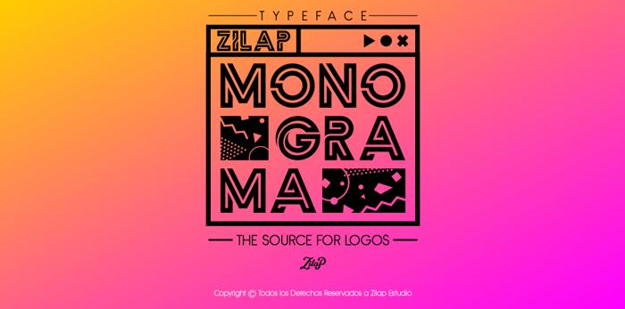 Zilap Monograma Font poster