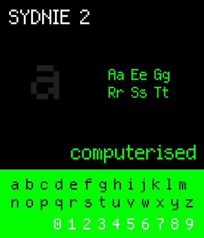 NBP Sydnie2 Font poster
