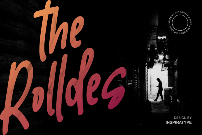 the Rolldes Font poster