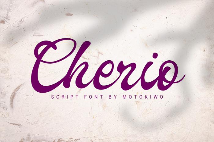Cherio Font poster