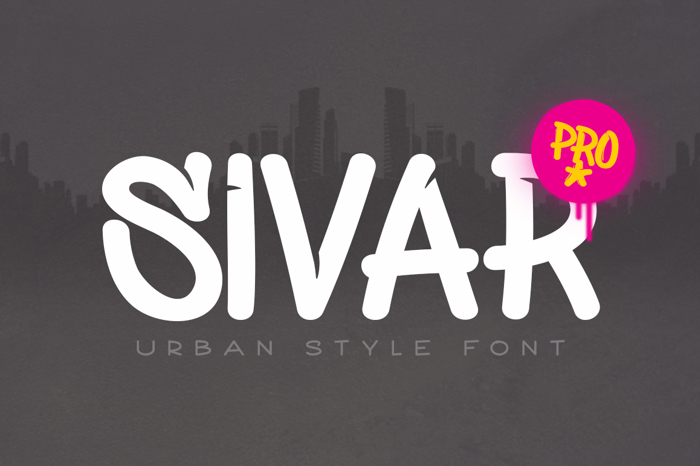 Sivar Pro Font poster